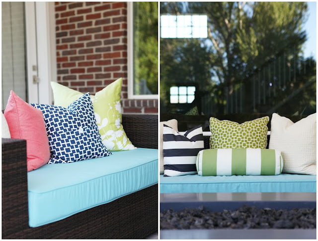 Weather Resistant outdoor Sofa Chair Modern Pillows