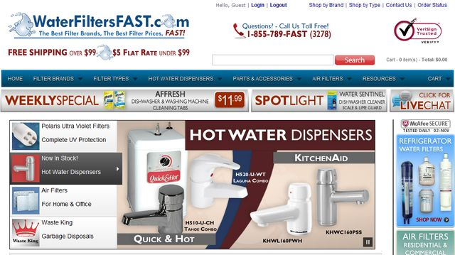 Water Filters Fast is committed to excellence in customer