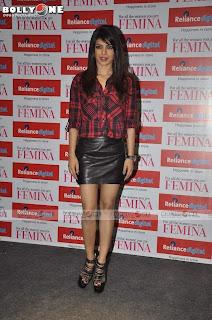 Priyanka Chopra Looks Super Cute @ Launch of Femina Magazine Power Issue Sep 2013