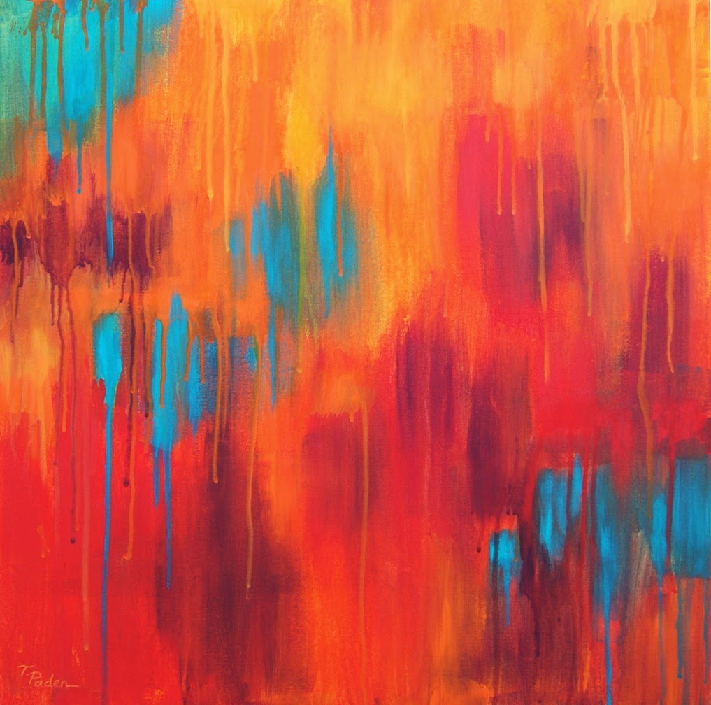 Abstract Painting In Bright Southwest Colors By Theresa Paden