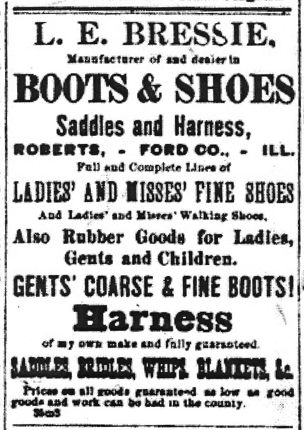 L. E. Bressie 1885 Ad