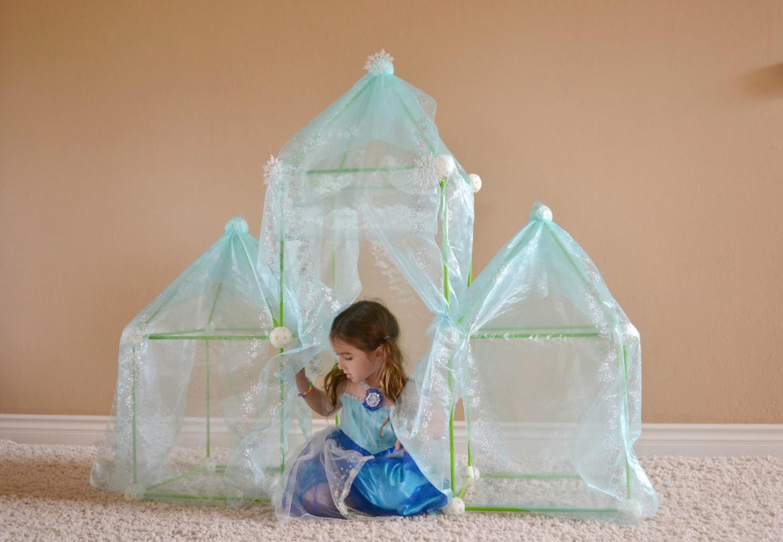 Mommy Testers, Disney Frozen Ice Palace, DIY FROZEN Ice Castle, DIY Frozen Ice Palace, DIY Disney Frozen Castle, How to make an ice palace fort