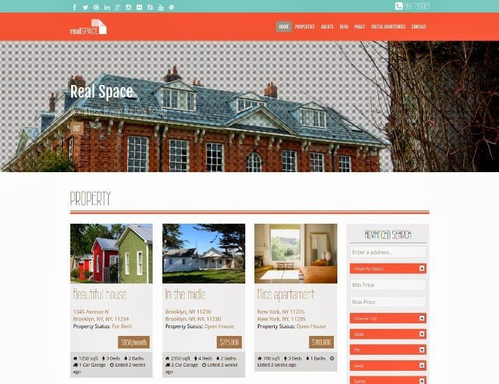 RealSpace - Real Estate WordPress Responsive & Parallax Theme
