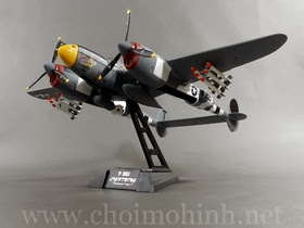Máy bay mô hình tĩnh P38 Lighting USAF 370th Fighter Group Vivacious Virgin II hiệu Witty Wings tỉ lệ 1:72