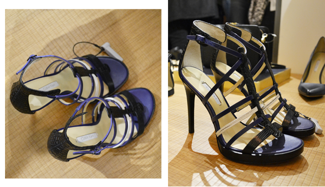 High Heels Calvin Klein, black and blue High Heels