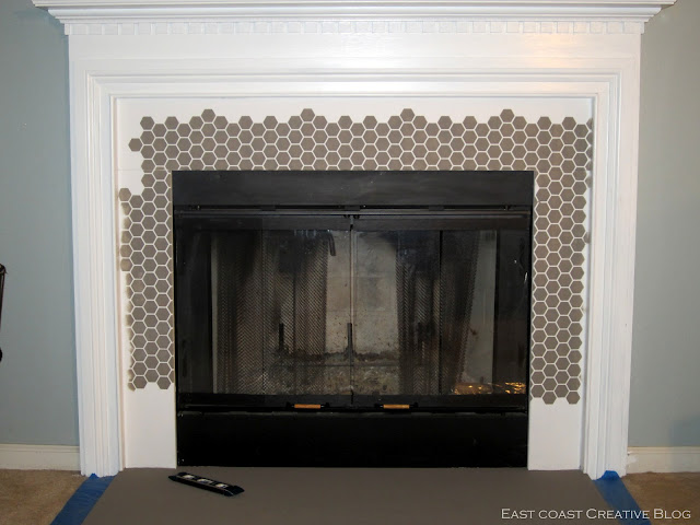 fireplace stenciled