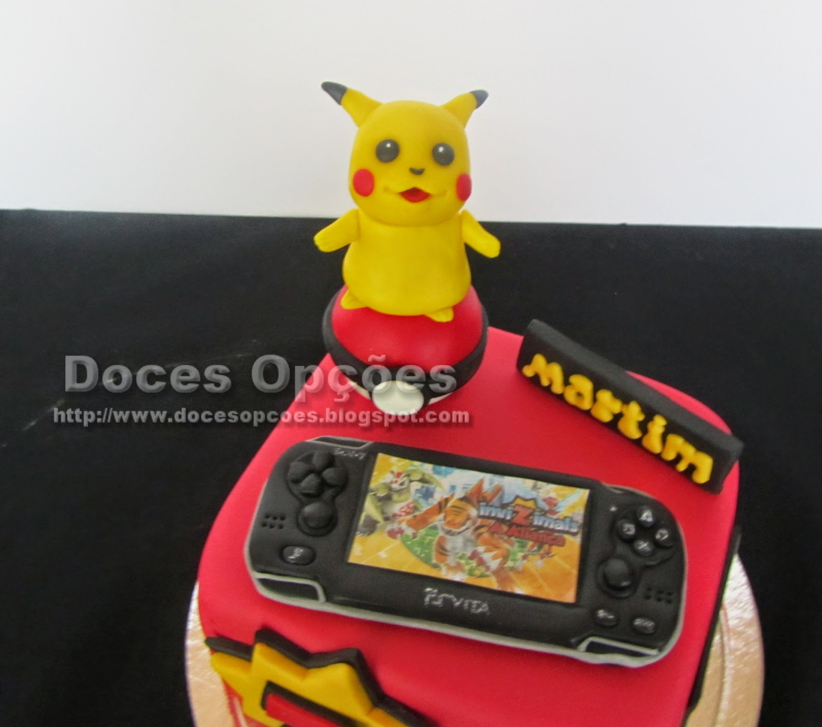cake pikachu playstation