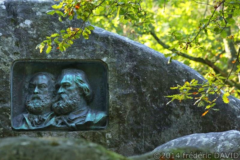 sculpture rocher forêt Fontainebleau Barbizon Seine et Marne