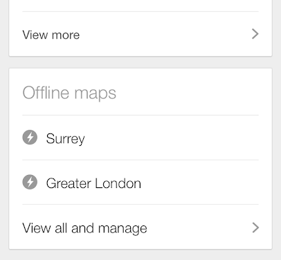 Google Maps Offline iPhone