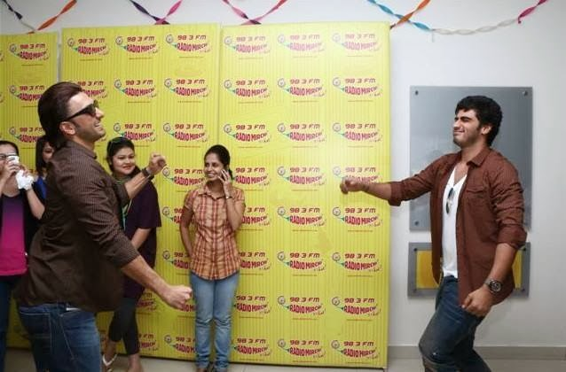Ranveer and Arjun at Radio Mirchi to promote Gunday