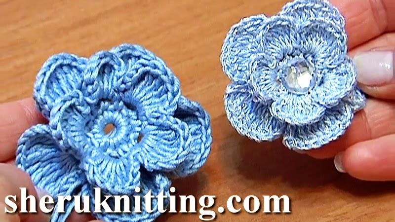 Sheruknitting: Crochet Flower Tutorial 6