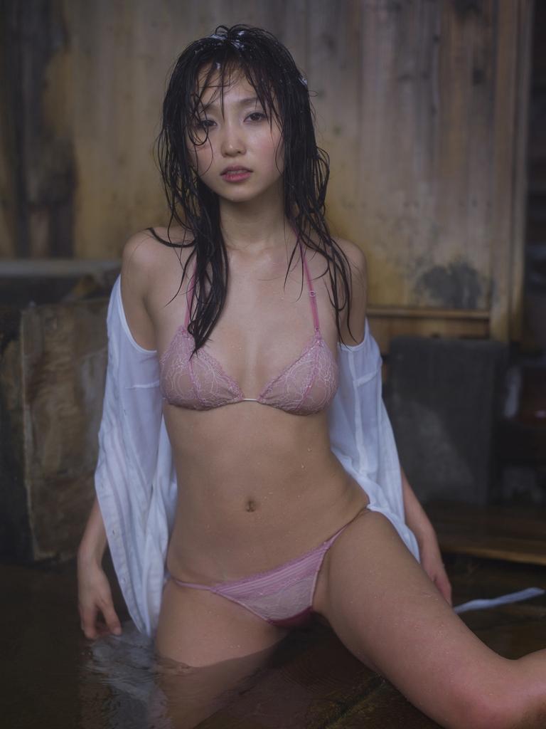 Risa Yoshiki - Pink Lingerie Phototshoot