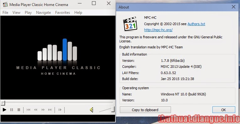 Download Media Player Classic – Home Cinema full mới nhất 2015
