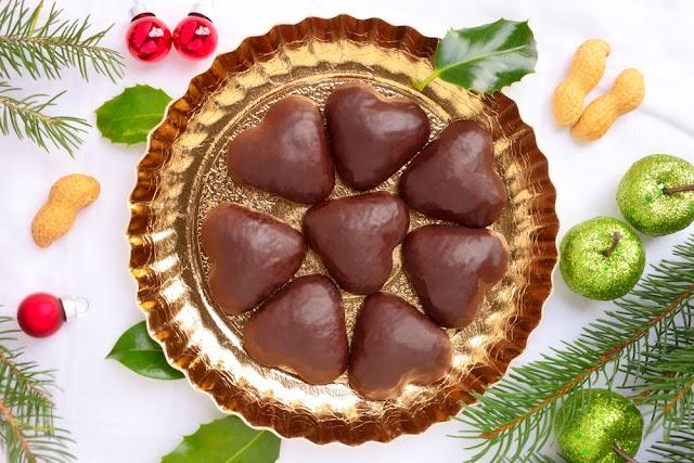 Schokoladen- Herzen. edyta Guhl.