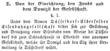 Statut der DEEG von 1848
