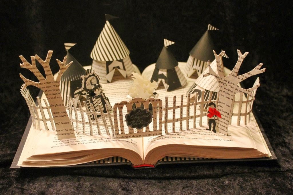 http://wetcanvas.deviantart.com/art/The-Night-Circus-Book-Sculpture-358847647