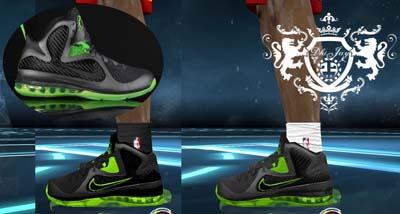 """NBA2K12 Nike LeBron 9 """"Dunkman"""