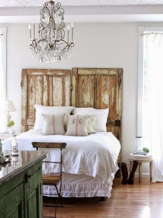 dormitorio shabby chic, vintage, rustico