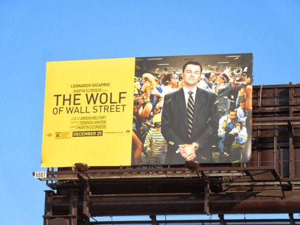 Wolf of Wall Street billboard