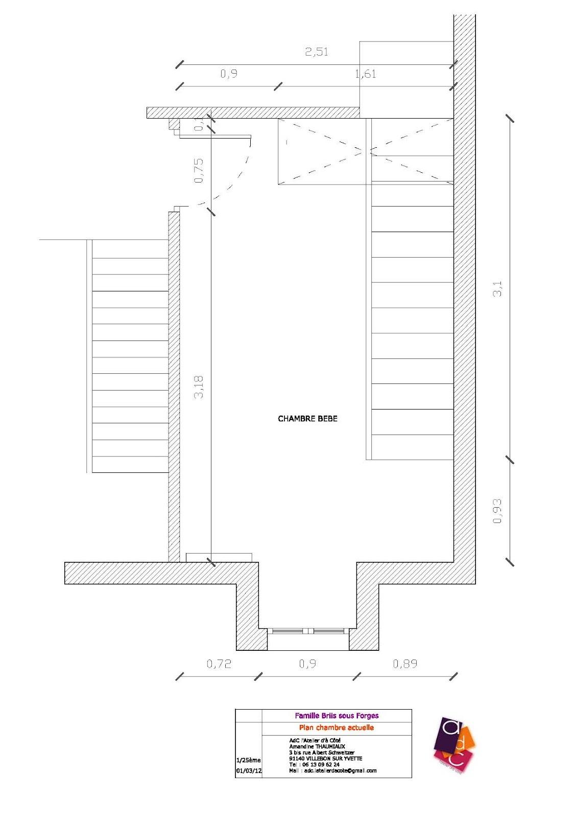 #B55816 AdC L'Atelier D'à Côté : Aménagement Intérieur Design D  3031 plan petite chambre bebe 1124x1600 px @ aertt.com