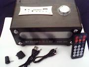 CAIXA DE SOM MULTMÍDIA USB/CARTÃO DE MEMÓRIA COM CONTROLE REMOTO. R$ 45,00