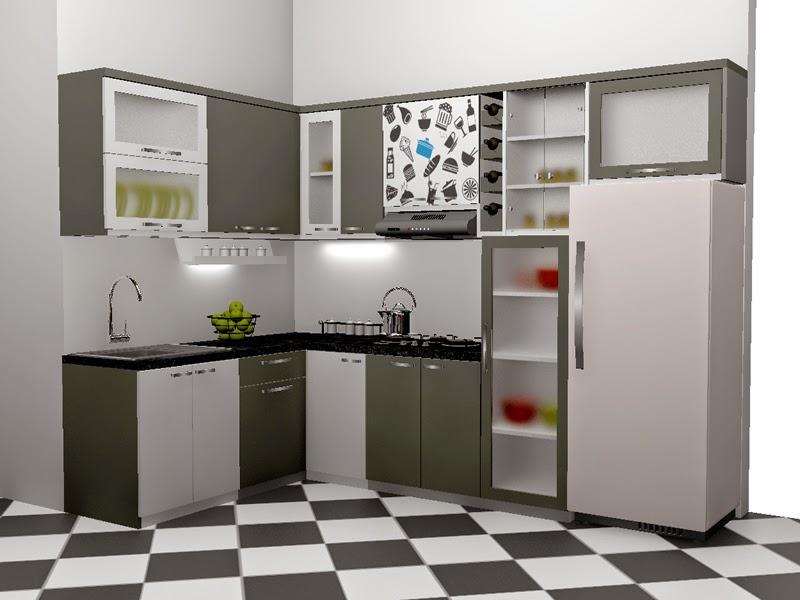 Kitchen Set Hitam Putih - Monochromatic Kitchen Set