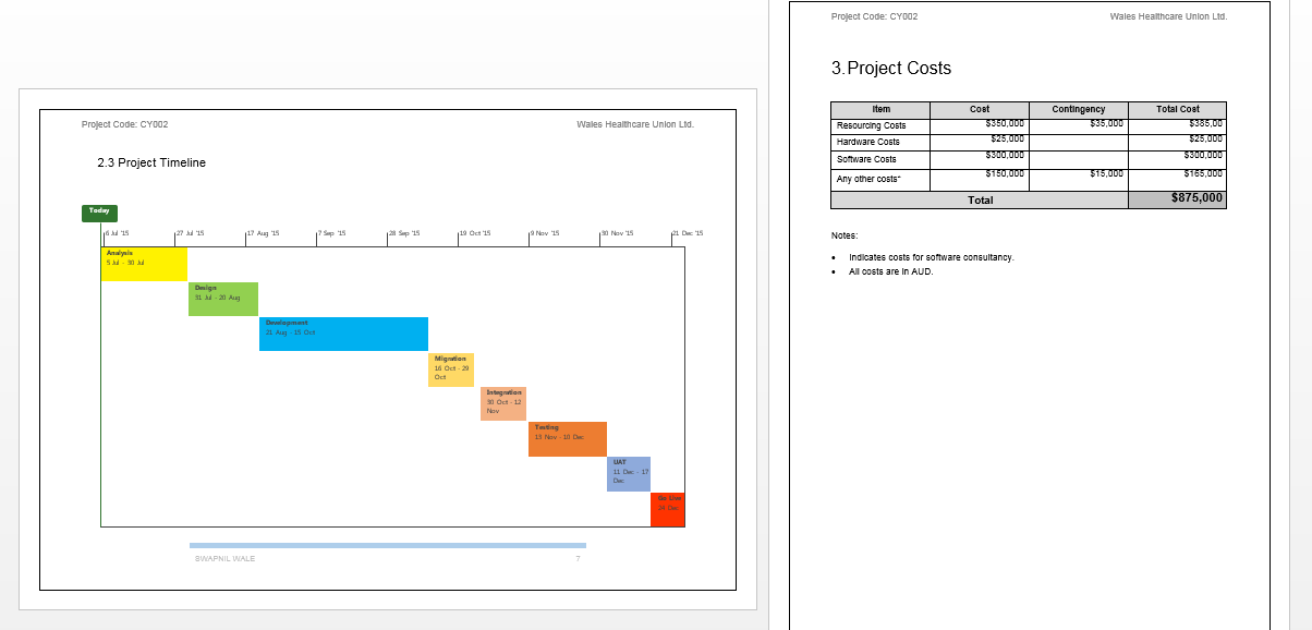 free project proposal template word .