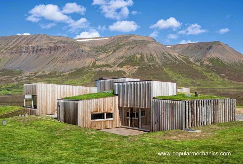Casa de campo contemporánea ecológica y sustentable
