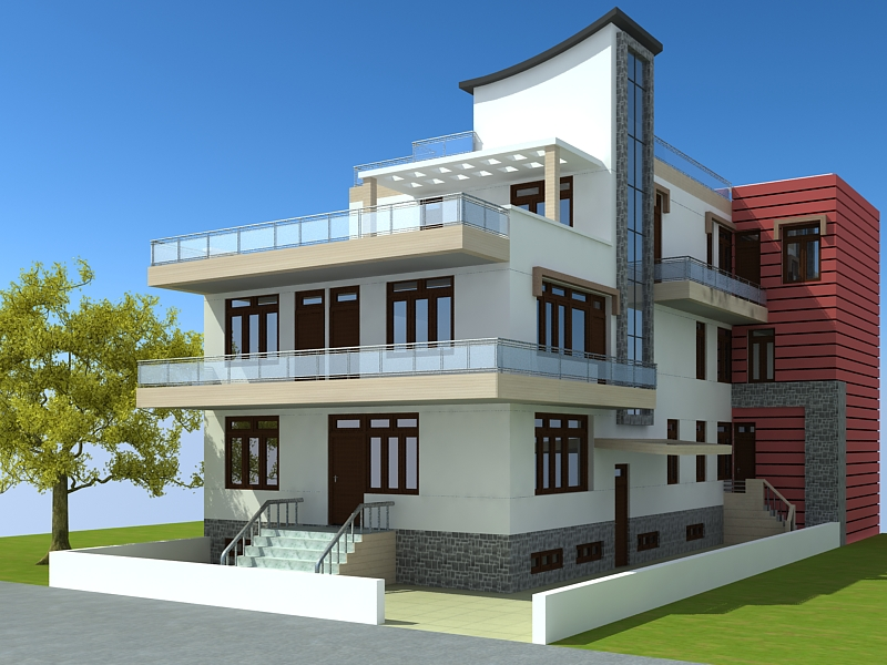 Blog apna ghar co 2011 front elevation architectural for Ghar design photo