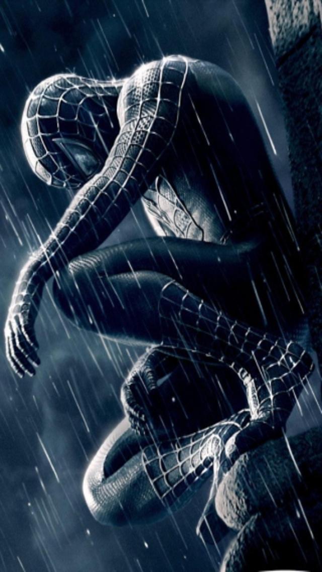 Black Spider Man IPhone 5 Wallpaper