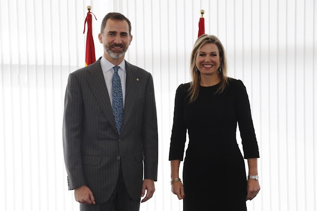 "King Felipe of Spain and Queen Maxima of the Netherlands attended the ""GSMA Mobile World Congress 2015"" conference"