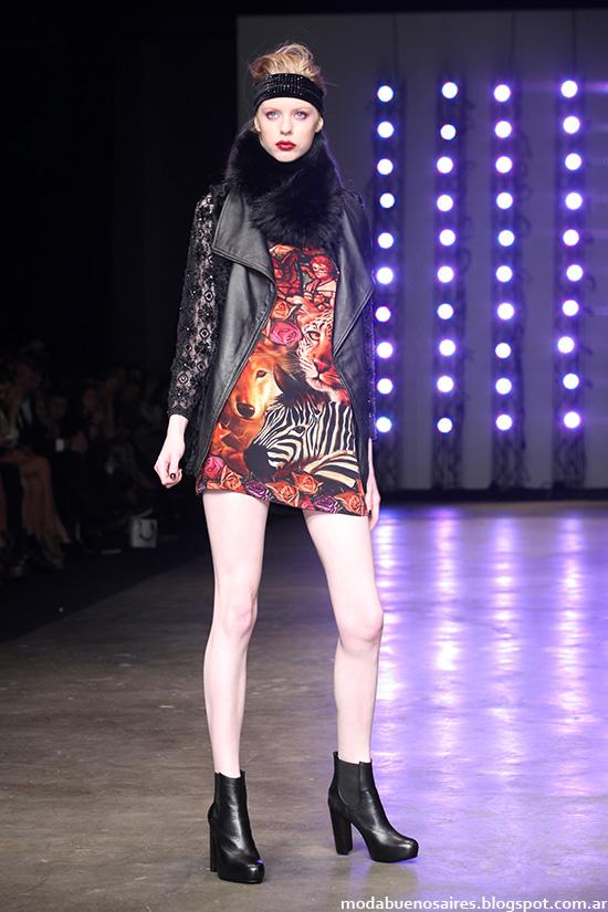 Kosiuko otoño invierno 2014 desfilel Bafweek. Moda otoño invierno 2014 moda Argentina.