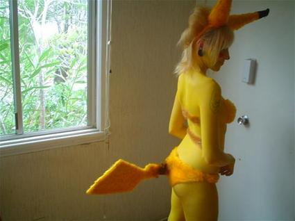 Sexy girls in Pokemon costum