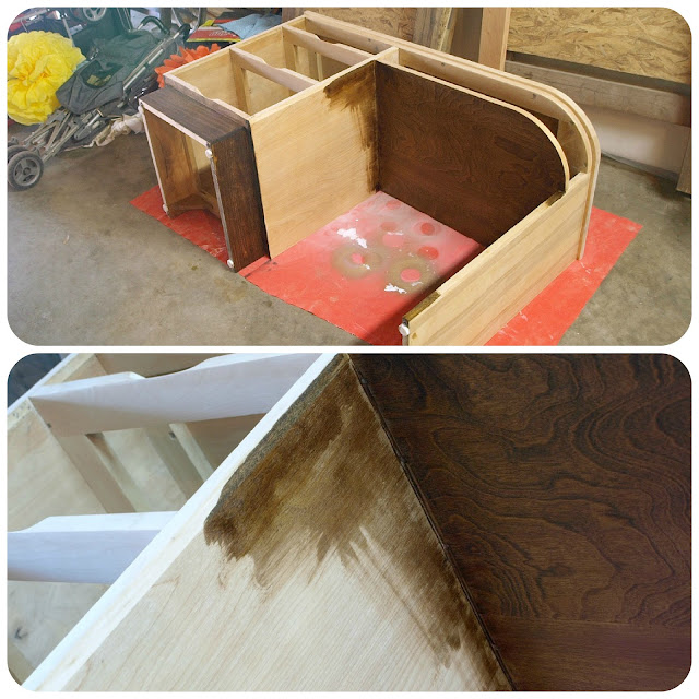 desk makeover || staining || This Little Miggy Stayed Home