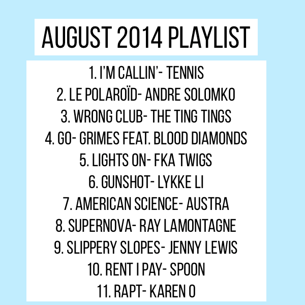 Playlist de Agosto
