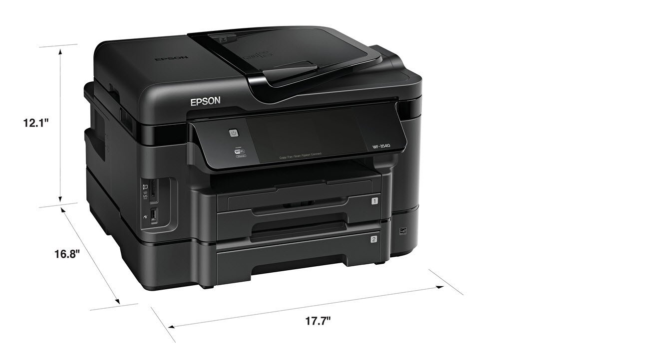 Most Helpful Customer Reviews for Epson WorkForce WF-3540 Wireless All-in-One Color Inkjet Printer, Copier, Scanner, 2-Sided Duplex, ADF, Fax. Prints