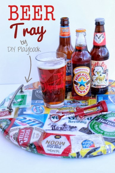 Who needs craft beer when you have beer crafts: DIY Beer Tray | DIY Playbook
