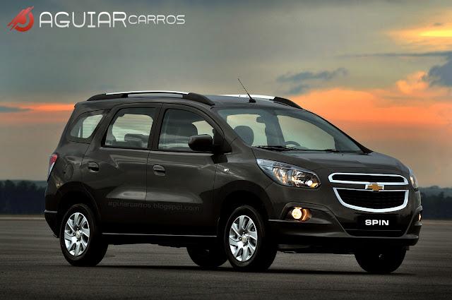 Fotos oficiais da Nova Chevrolet Spin