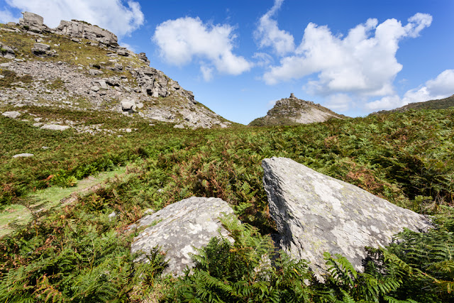 Castle Rock and Rugged Jack at the Valley of Rocks in Exmoor by Martyn Ferry Photography