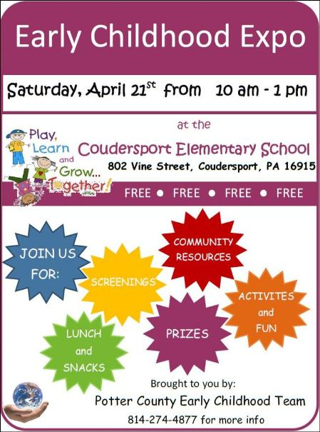 4-21 Early Childhood Expo, Coudersport, PA