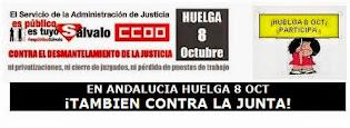 CCOO CONVOCA HUELGA EN JUSTICIA EL 8 DE OCTUBRE