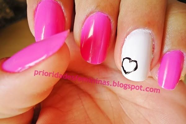 nail art, filha unica, rosa