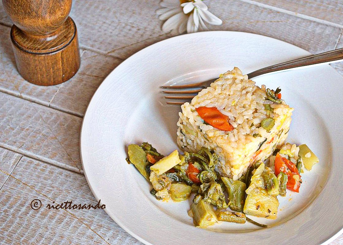 Riso vegetariano con tenerumi ricetta di riso e germogli light