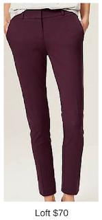 Sydney Fashion Hunter - She Wears The Pants - Loft Plum Work Pants