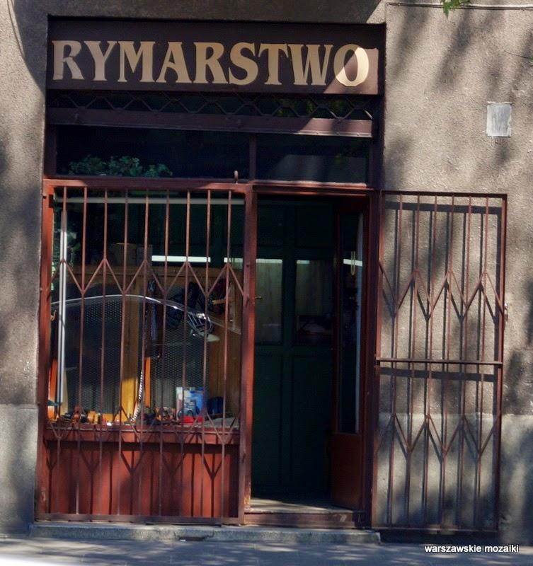 Warszawa Praga szyld usługi rymarz zakład usługowy