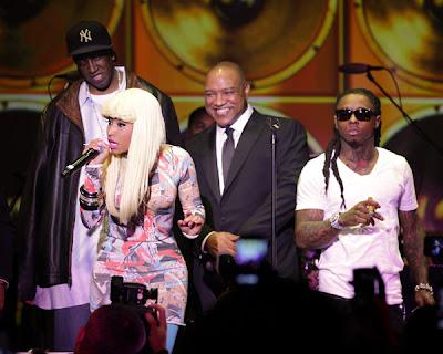 Imagen de Nicki Minaj y Lil Wayne en la alfombra roja de los Grammy Awards 2011