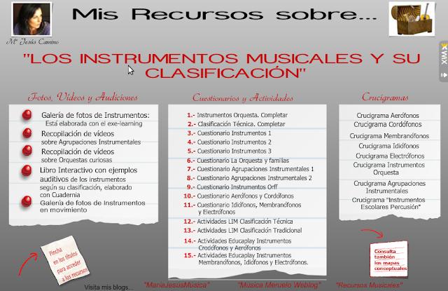 Los instrumentos musicales y su clasificación