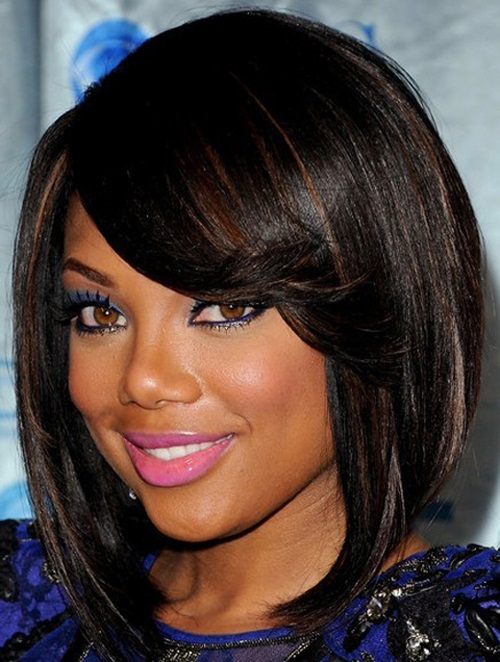 Hairstyles For Round Faces Black 20