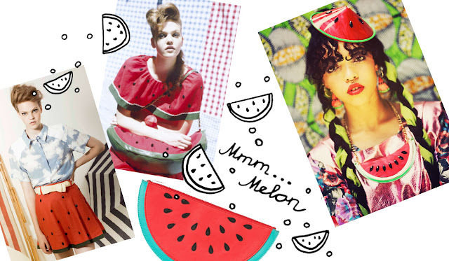 Vivette, melon, Tatty Devine, Monki, fruits in fashion