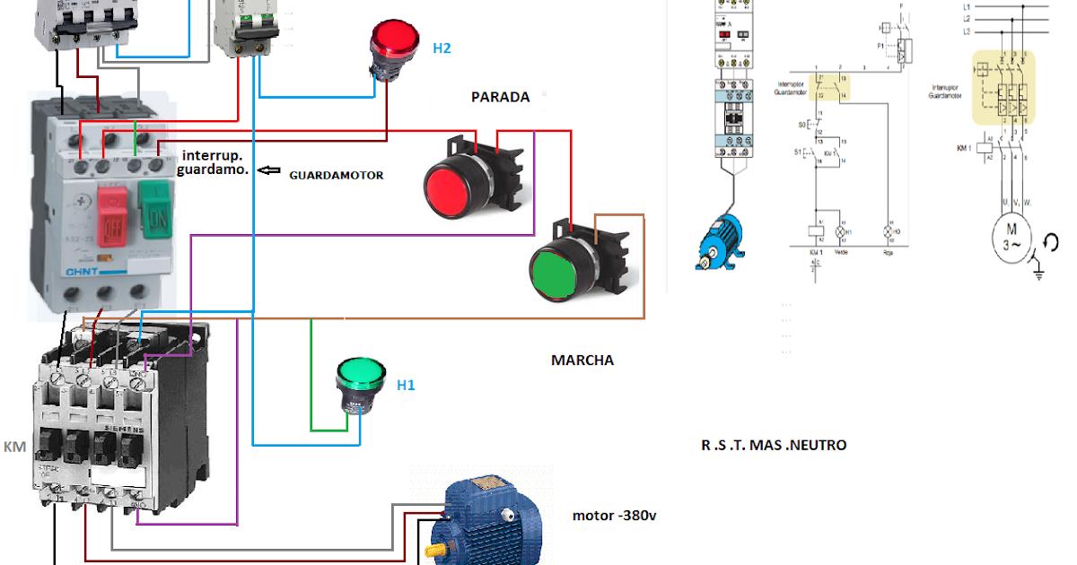 Como instalar un guardamotor esquemas el ctricos for Como poner un termo electrico